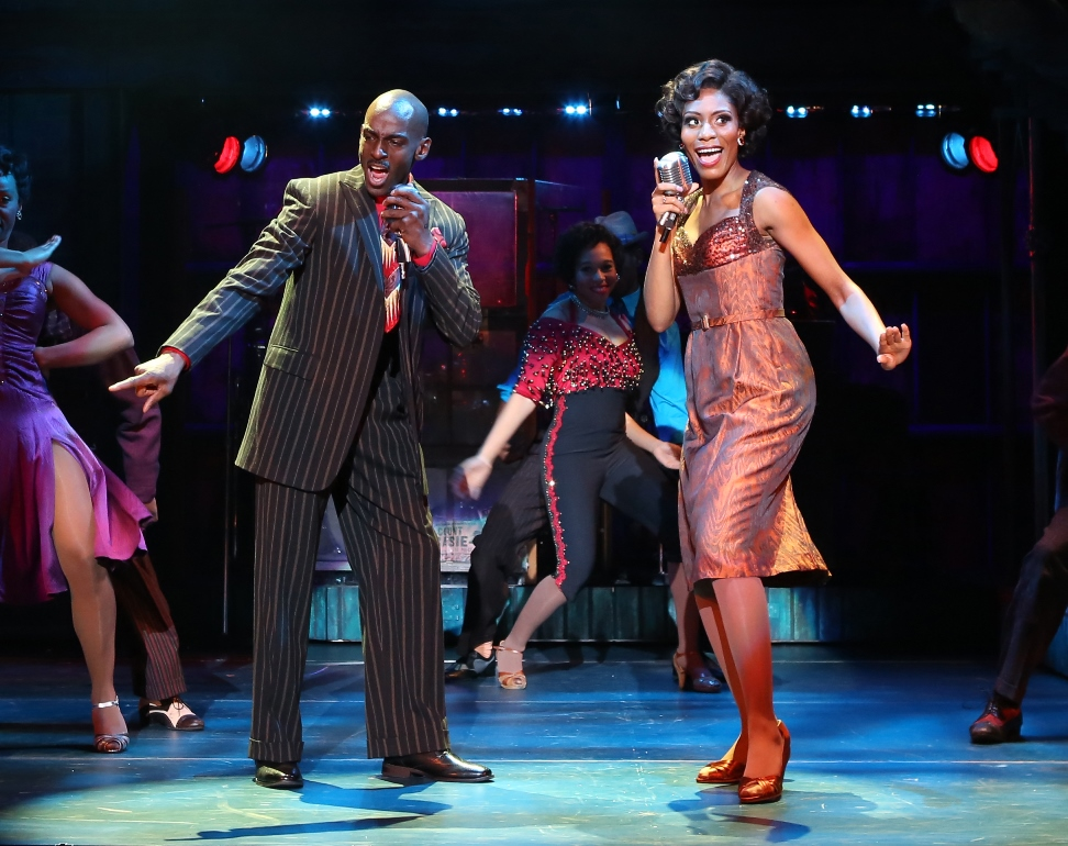 RaMond Thomas as Delray and Jasmin Richardson as Felicia in the National Touring Cast of MEMPHIS. Photo Credit Jeremy Daniel
