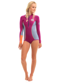 Rip Curl L/S G-Bomb Booty Wetsuit in Purple